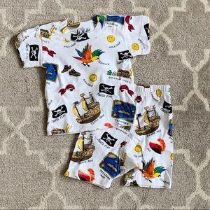 NWT At home 'pirates' short sleeve/shorts pajamas